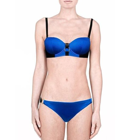 Maillot de bain culotte Aura Bleu/Noir