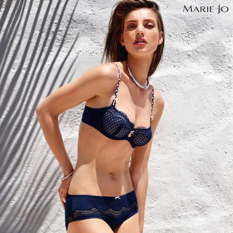 MARIE JO Soutien-gorge balconnet coutures verticales Dolores Bleu Saphire
