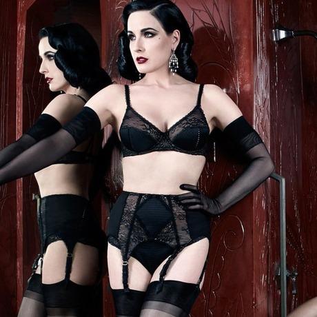 DITA VON TEESE Porte-jarretelles Screen Queen Noir Noir