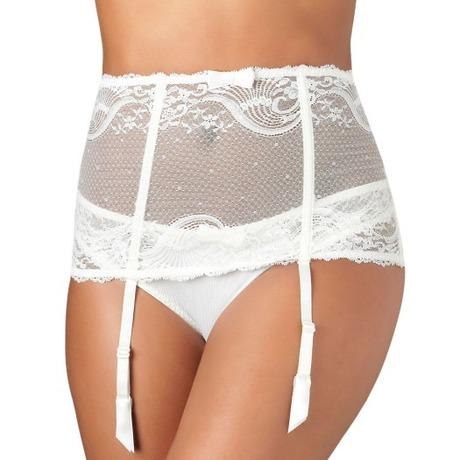 AUBADE Serre-taille porte-jarretelles L'Insoumise Blanc
