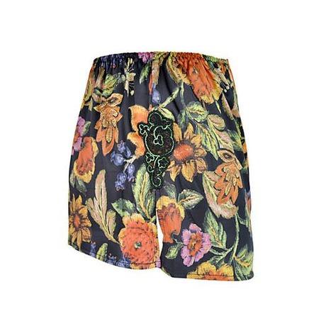 Short en satin Splendeur Inca Tropical Colors