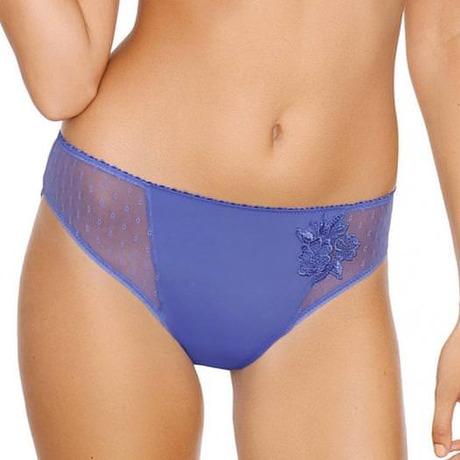 Slip brésilien plumetis Divine Bleu