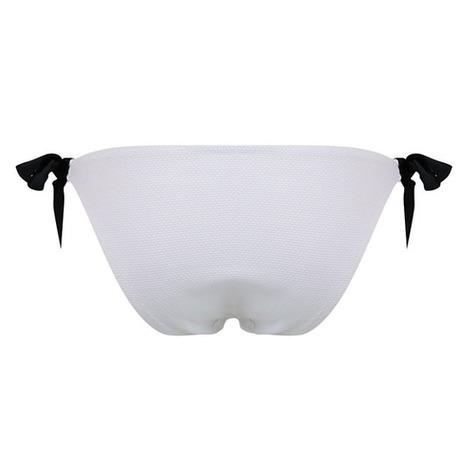 Maillot de bain slip lacets La Sporty Naïade Blanc/Noir