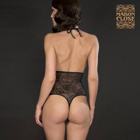 MAISON CLOSE String taille haute harnais Villa des Lys Noir