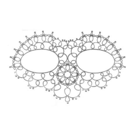 Tattoo 3D Face Mask Argent