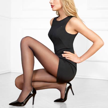 LE BOURGET Collant Perfect Chic 20D Couture Noir