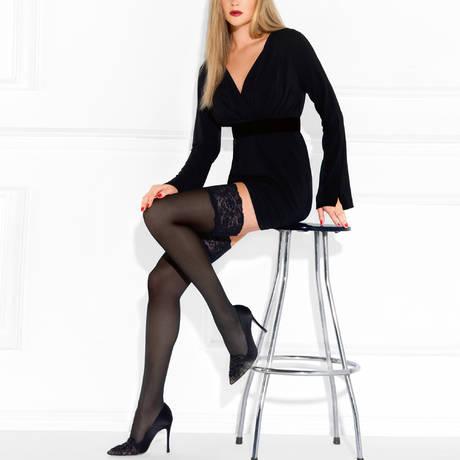 LE BOURGET Bas autofixant Perfect Chic 40D Couture Noir