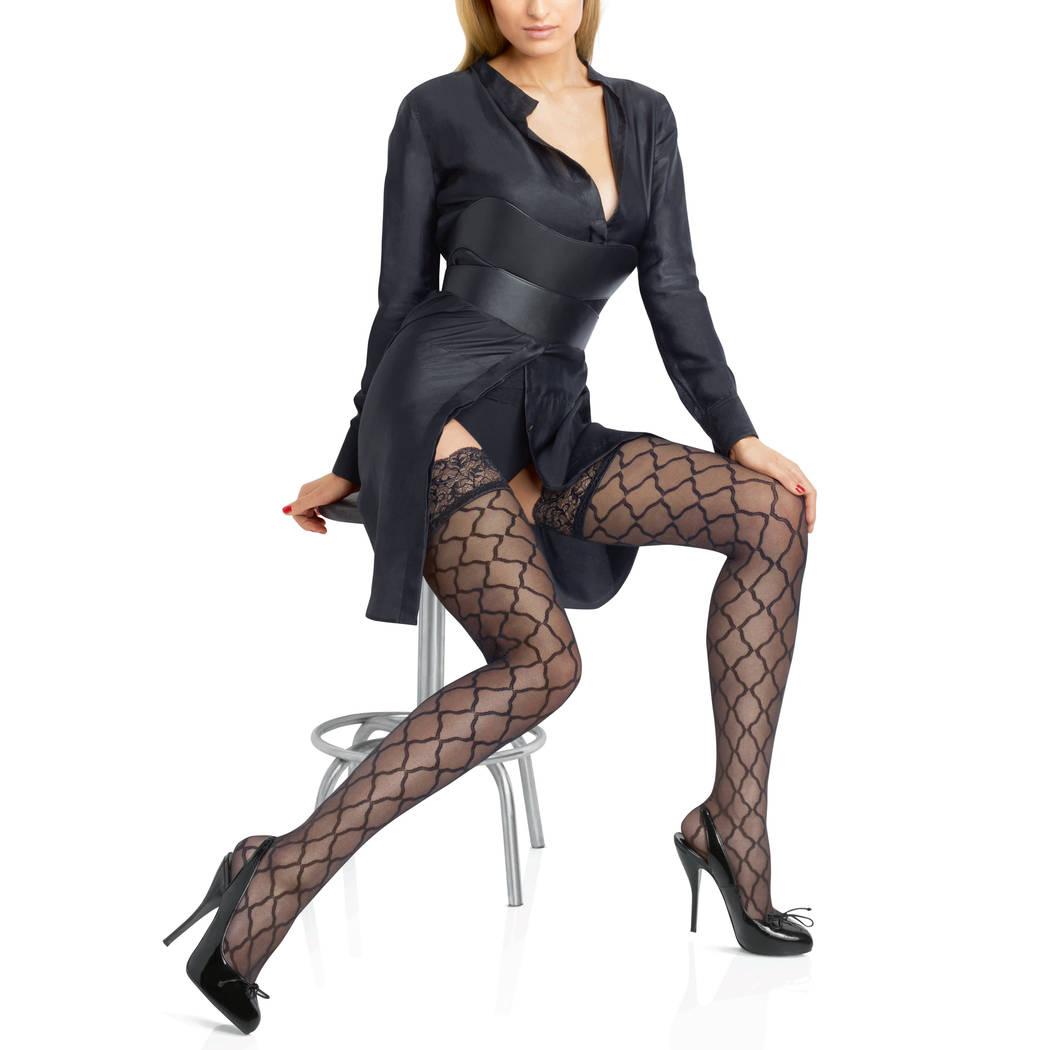 LE BOURGET Bas autofixant Allure Micro Tulle Couture Noir