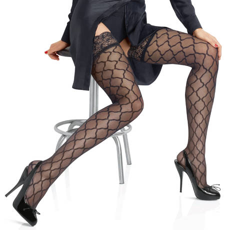 Bas autofixant Allure Micro Tulle Couture Noir