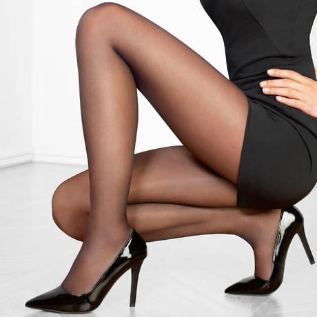 LE BOURGET Collant 20 deniers Perfect Chic Couture Noir