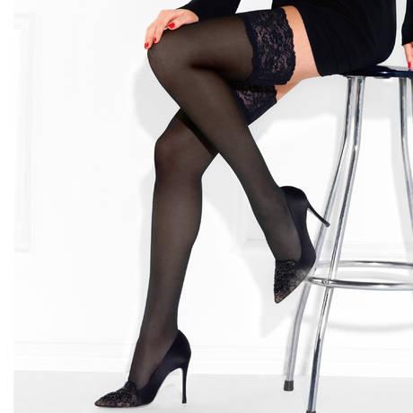 LE BOURGET Bas autofixant 40 deniers Perfect Chic Couture Noir ... dc4c9f0c3c3