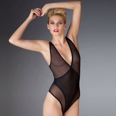 MAISON CLOSE Body string Mise à nu Noir