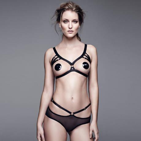 Culotte ouverte Bondage-Belle Signature Noir