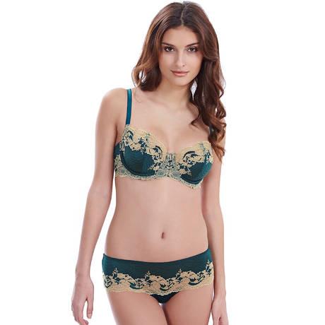 Soutien-gorge armatures Lace Affair Vert/Or
