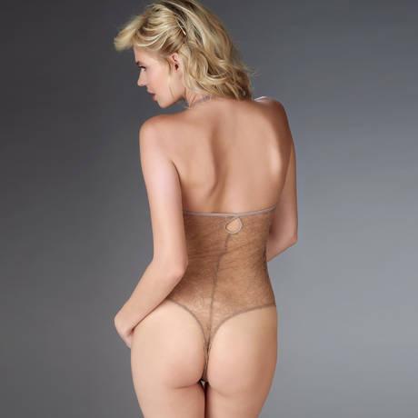 MAISON CLOSE Body string Jardin Impérial Marron/Or