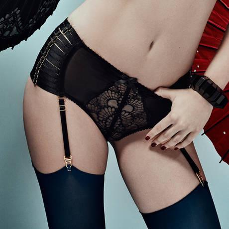 BORDELLE Culotte haute porte-jarretelles Sensu Noir