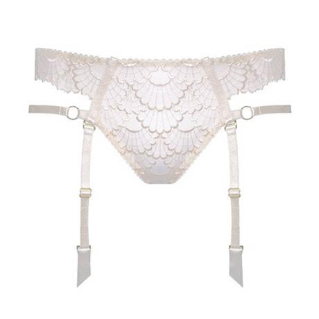 Culotte ouverte porte-jarretelles Sensu Bridal Crème