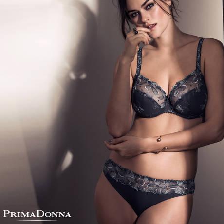 PRIMADONNA Soutien-gorge balconnet coutures horizontales Iris Charbon
