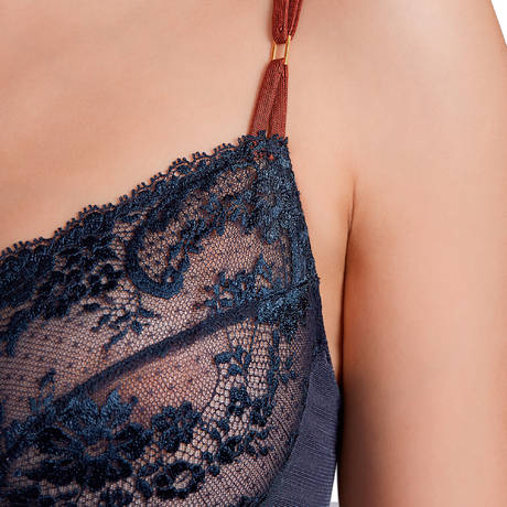 Soutien-gorge armatures emboîtant grandes tailles Ginger Blueberry