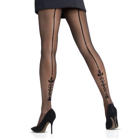 LE BOURGET Collant Select 20D Couture Noir