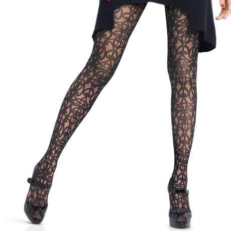 Collant Exquis 40D Couture Noir