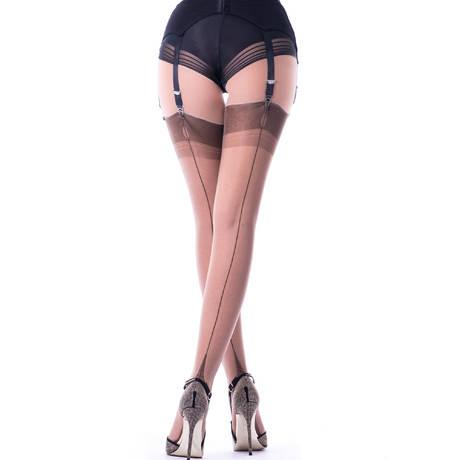 CERVIN Bas nylon couture 15 deniers Tentation Marron glacé