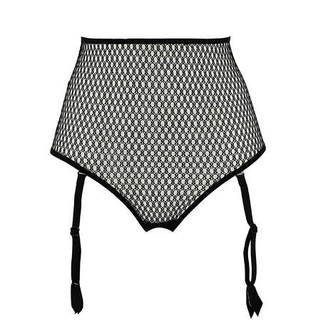 ANDRES SARDA String luxueux porte-jarretelles Wasabi Noir