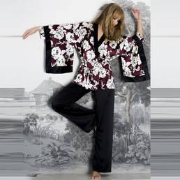 Pyjama en soie Marjolaine Beijing