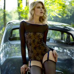 Body string porte-jarretelles Maison Close Vertige d'Amour