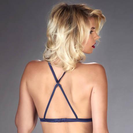 MAISON CLOSE Soutien-gorge triangle Vertige d'Amour Noir/Bleu Nuit