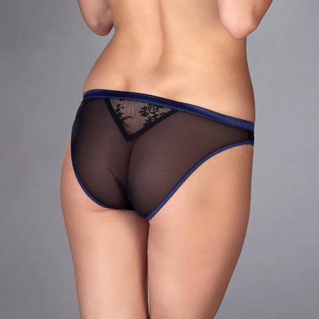 MAISON CLOSE Culotte Vertige d'Amour Noir/Bleu Nuit