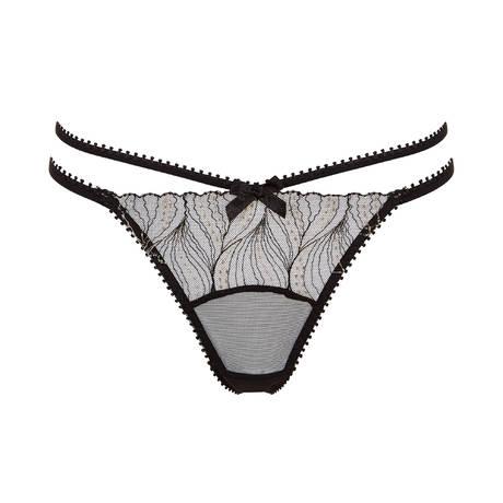 Culotte ouverte Oria Noir/Or