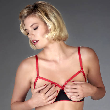 Soutien-gorge seins nus Armée des Sens Noir/Rouge