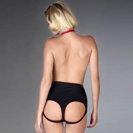 Culotte harnais taille haute Armée des Sens Noir/Rouge