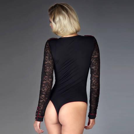 MAISON CLOSE Body string col V Armée des Sens Noir/Rouge