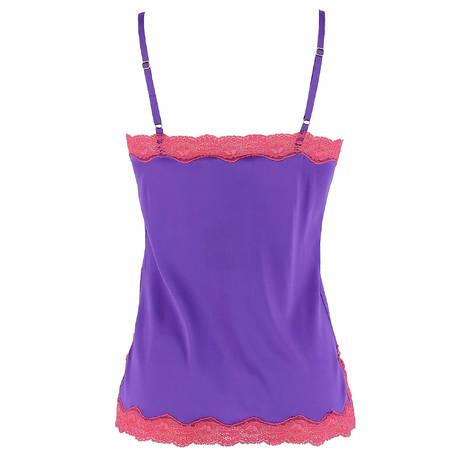 Caraco en soie Les Intemporels Purple Azalae
