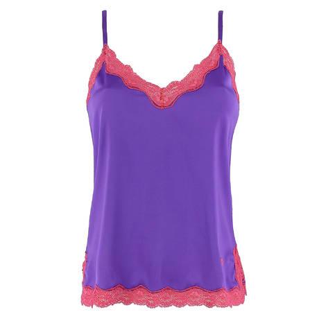 VANNINA VESPERINI Caraco en soie Les Intemporels Purple Azalae