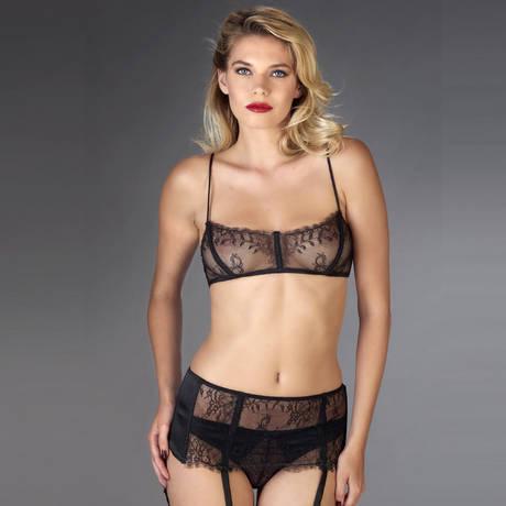 MAISON CLOSE Soutien-gorge corset Villa Satine Noir