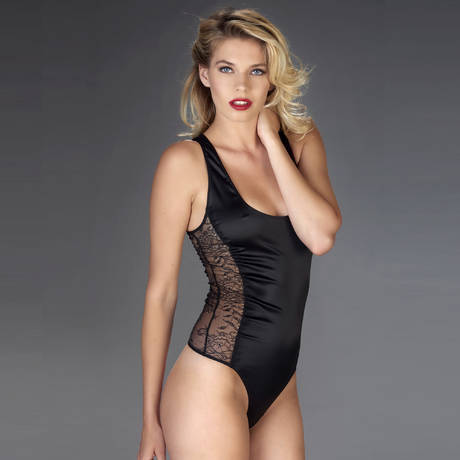 MAISON CLOSE Body string Villa Satine Noir