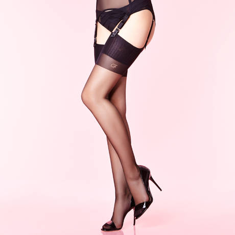 CHANTAL THOMASS Bas couture 15D Les Bas et Collants Noir