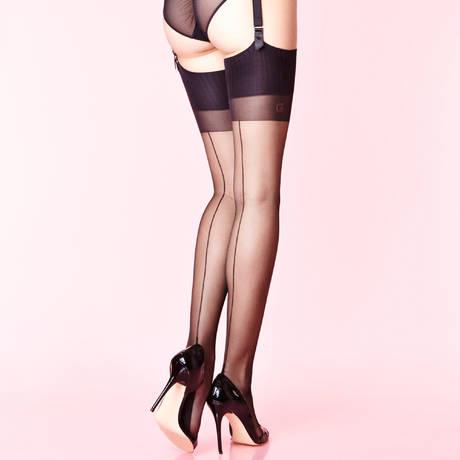 CHANTAL THOMASS Bas couture 15 deniers Les Bas et Collants Noir