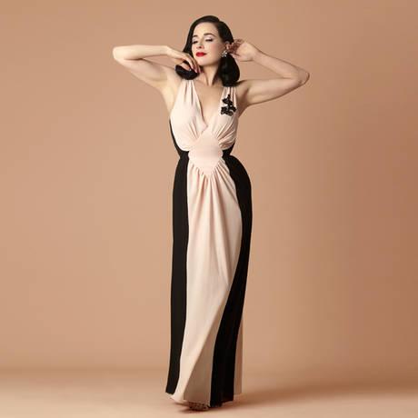Déshabillé Hollywood Calling Loungewear Noir/Pêche