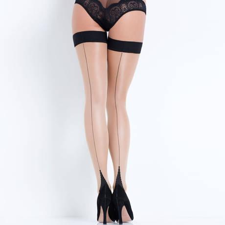 Bas autofixant Hosiery Nude/Noir