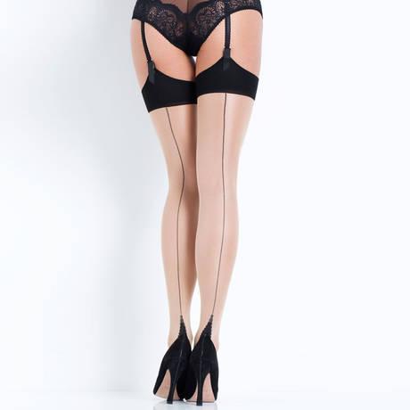 Bas couture Hosiery Nude/Noir