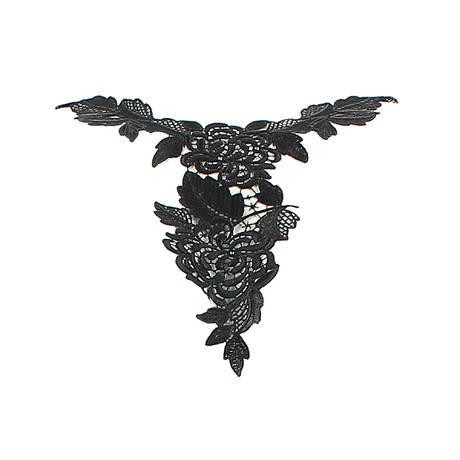 Collier Ajourage Pétales Noir