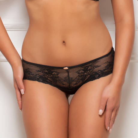 Shorty Glamour Lace Noir/Nude