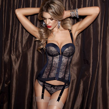 GOSSARD String Retrolution VIP Noir/Nude