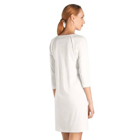 HANRO Nuisette manches longues en coton Pure Essence Blanc