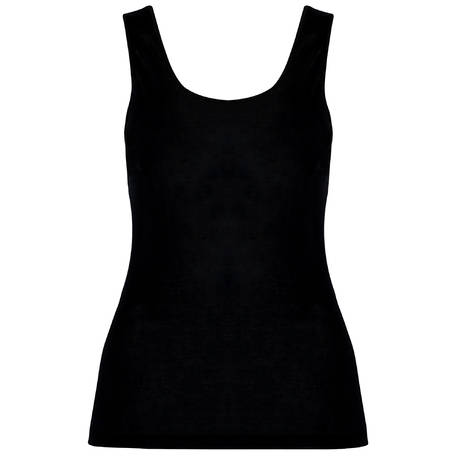 HANRO Top sans manches en soie Pure Silk Noir