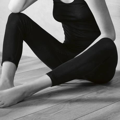 HANRO Leggings en soie Pure silk Noir